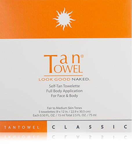Tan Towel Self Tan Towelette Classic, 5 Count (Tan Body Towels)