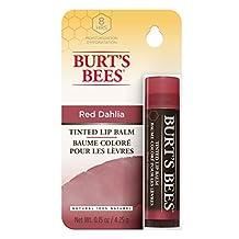 Burts Bees 100% natural tinted lip balm, red dahlia blister box, 4.25g
