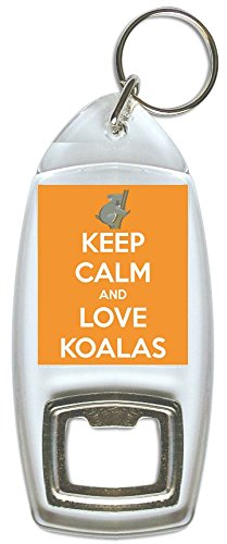 Keep Calm And Love Koalas  –   Apribottiglie Portachiavi Pukka Printing
