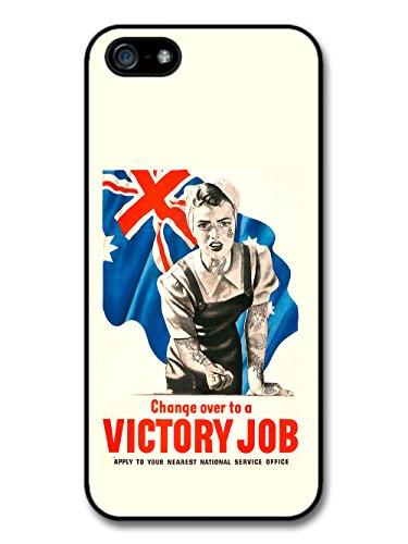 Victory Job Cool Tattoo Retro Propaganda case for iPhone 5 5S