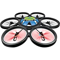 Microgear EC10424-Black 2.4 GHz. Radio Controlled RC QX-839 4 Chan 6 Axis Gyro Quadcopter Drones