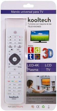 Mando Distancia Universal para TV Televisores Philips SIN INSTALACIÓN Blanco: Amazon.es: Electrónica
