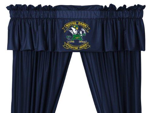 Notre Dame Fighting Irish 8 Pc FULL Size Comforter Set and One Matching Window Valance/Drape Set (Comforter, 1 Flat Sheet, 1 Fitted Sheet, 2 Pillow Cases, 2 Shams, 1 Bedskirt, 1 Matching Window Valance/Drape Set) SAVE BIG ON BUNDLING!
