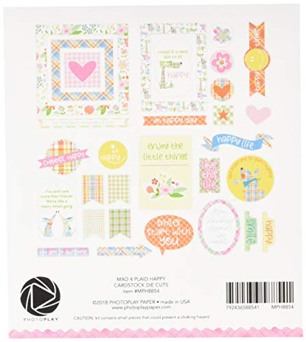Mad 4 Plaid Happy MPH8854 Cardstock Die-Cuts Multicolor by Mad 4 Plaid Happy (Image #1)