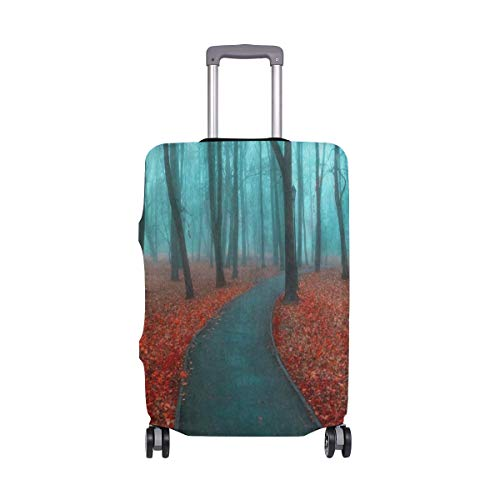 - Suitcase Cover Autumn Landscape Forest Tree Foggy Luggage Cover Travel Case Bag Protector for Kid Girls