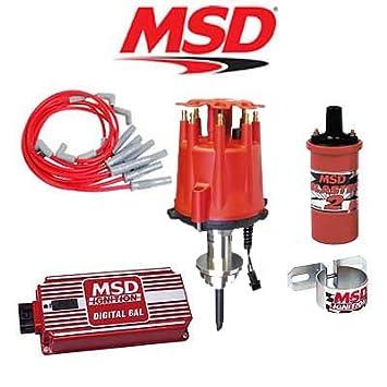 MSD Ignition Distribuidor de Kit - Digital 6 al//Cables/Bobina/ - Soporte para Chrysler 318 - 360: Amazon.es: Coche y moto