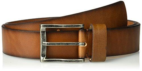 Florsheim Men's Albert Dress Casual Leather Belt, Cognac, (Union Distressed Belt)