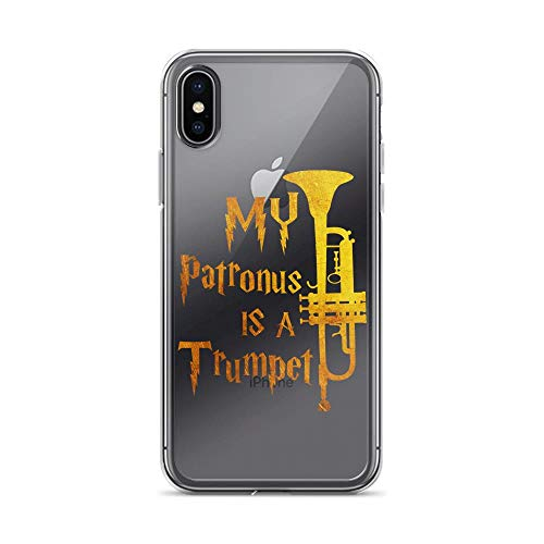 iPhone X/XS Pure Clear Case Cases Cover My Patronus is A Trumpet - Trumpet Players Men