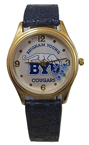 BYU Brigham Young Watch Sun Time Rotating Cougar Paws Wristwatch ()