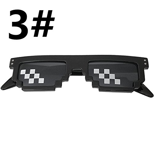 Accreate Thug Life 8-Bit MLG Pixelated - Uv Rating Sunglasses