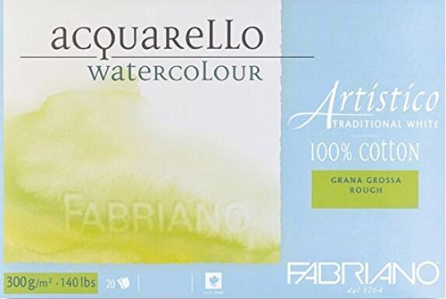 Fabriano AEW 4CO BL 20 °C GT-Carta acquerello, colore: bianco Extra 30,5 x 45,5 cm 00323045