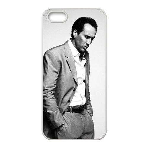 V1P76 Nicolas Cage J3I0TG coque iPhone 5 5s cellule de cas de téléphone couvercle coque blanche IA1ILF7DU