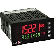 Red Lion PAX2A 1/8 DIN Universal DC Analog Input Panel Meter, Tri-Color Dual LCD Display, 21.6-250 V AC/DC Power
