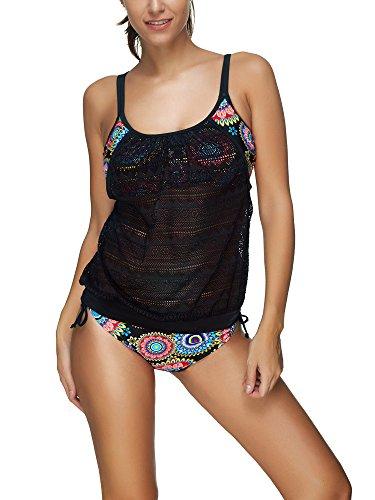 Stile Bagno 12 Da Colori Donne Set Bozevon Costumi Bikini Costume f Grossa Pezzo Taglia Tankini 3 RwBUCnqW
