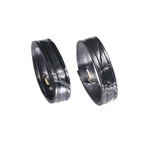 genuine-hand-craft-crocodile-leather-strap-keeper-loop-in-black-size-18mm-two-pieces-one-pack