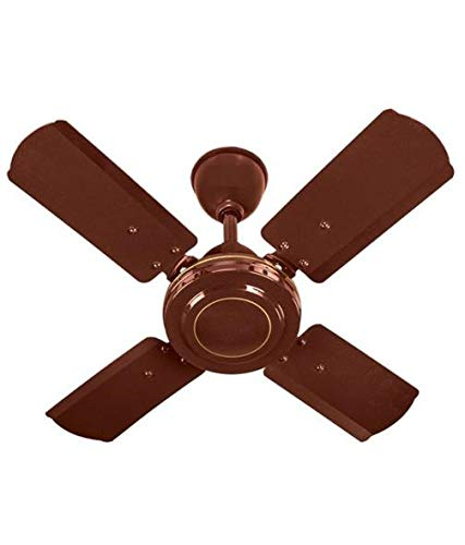 Krishvia 600 mm / 24 Inch High Speed 4 Blade Anti-Dust Ceiling Fan Suitable for Kitchen / Veranda / Balcony / Small Room with 900 RPM Brown (Glossy Brown)_D12