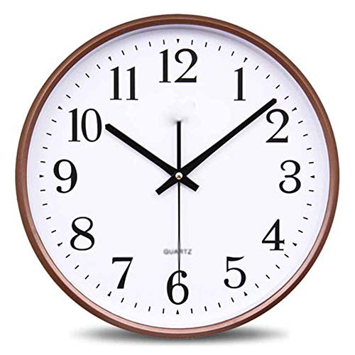 (Clock Wall Clock Living Room Modern Simple and Quiet 13 Inch 33cm Electronic Quartz Clock Round Home Atmosphere Clock Creative Environmental Mute Hd Font Environmentally Friendly Material)
