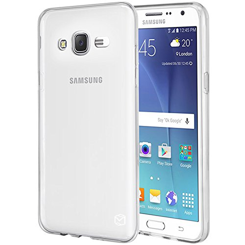MP-MALL Case for Samsung Galaxy J7 2015, [Slim Fit] Premium Flexible Soft TPU Gel Rubber Skin Silicone Protective Case Cover (Clear)