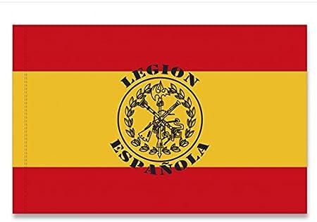 BANDERA DE ESPAÑA LEGION ESPAÑOLA REPLICA MILITAR ORNAMENTAL 100X70CM: Amazon.es: Hogar