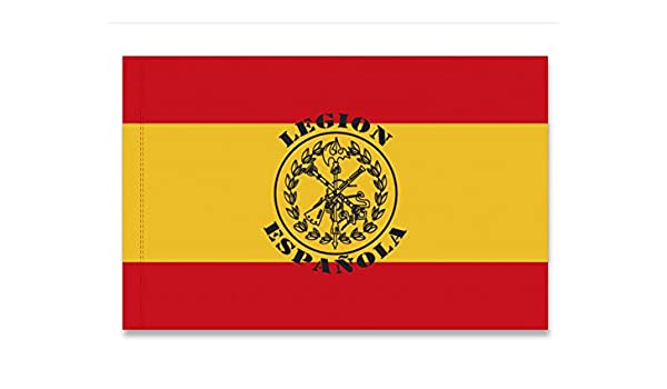 BANDERA DE ESPAÑA LEGION ESPAÑOLA REPLICA MILITAR ORNAMENTAL ...