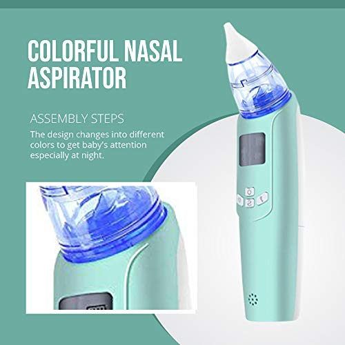 Watolt Baby Nasal Aspirator - Electric Nose Suction for Baby - Automatic Booger Sucker for Infants - Battery Powered Snot Sucker Mucus Remover for Kids Toddlers (Green)