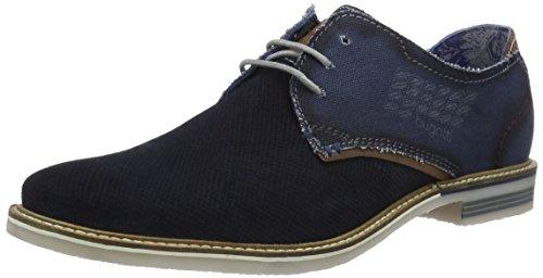Bugatti F752436, Zapatos de Cordones Derby para Hombre Azul (Dunkelblau 425)