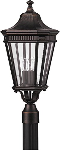 Cheap Feiss OL5407GBZ Cotswold Lane Outdoor Post Lighting, Bronze, 3-Light (10″W x 23″H) 180watts