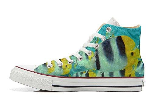 personalisierte bunte Star Fische Converse All Handwerk Hi Customized Schuhe Schuhe wIqAZ8q