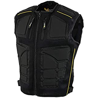 Xelement CF244 Mens Black Padded Tri-Tex Fabric and Mesh Vest 5X-Large