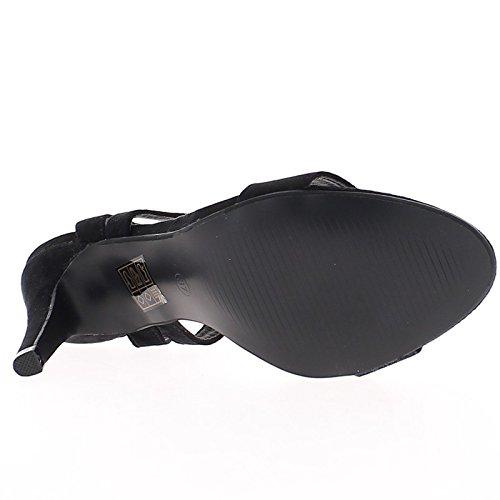 Multa 10,5 cm sandali tacco nero