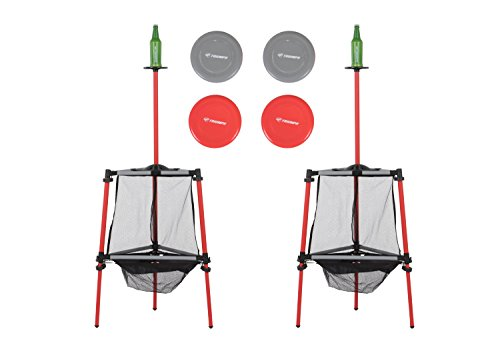 Triumph Two-in-One Disc Golf and Toss N Topple Target Game Outdoor Combination Set]()