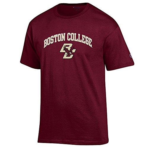 Elite Fan Shop NCAA Men's Boston College Eagles T Shirt Team Color Arch Boston College Eagles Maroon ()