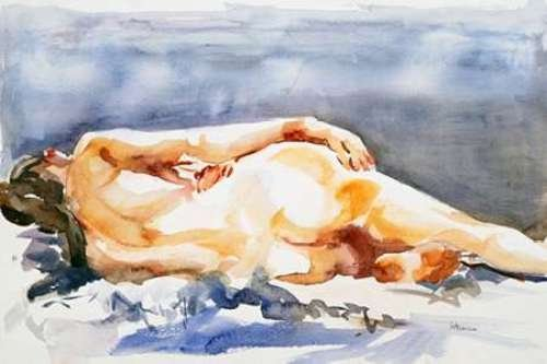 """Nudo by Alessandra Arecco - 8"""" x 12"""" Giclee Canvas Art Print"""