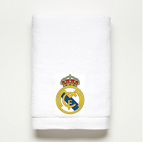 REAL MADRID ~ Embroidered Bath Towel ~ 100% Cotton by Real Madrid