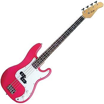 kay 4 string bass guitar punk rock pink kb24p musical instruments. Black Bedroom Furniture Sets. Home Design Ideas