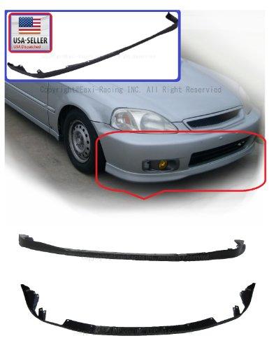 Spoon Lip Civic - Honda Civic 92-95 EG Spoon Style PU Front Bumper Lip Spoiler 2DR 3DR