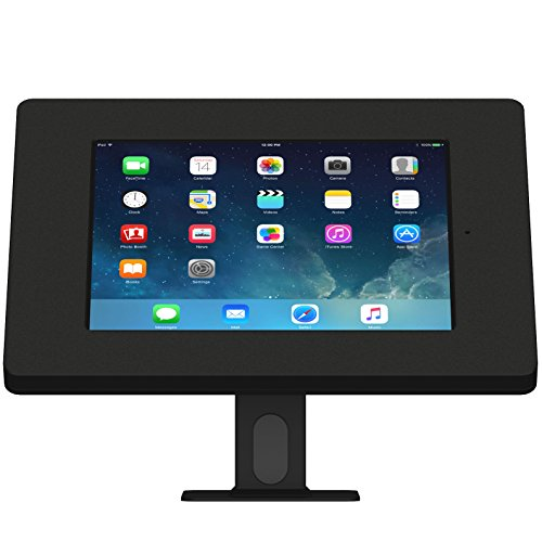 iPad (5th Gen) 9.7/Pro, Air 1/2 Black Covered Home Button Rotating & Tilting Desk/Table Mount [Bundle] by VidaMount (Image #1)'