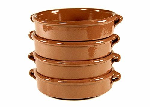 Terra Cotta Cazuelas, Round - 4.5 Inch (4 Dishes)