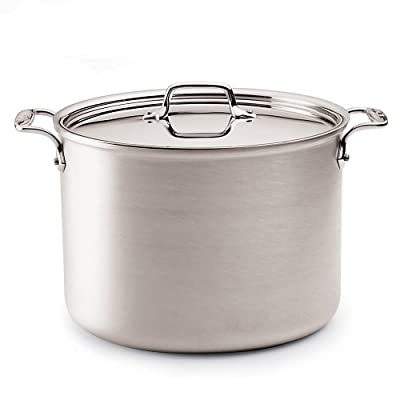 All-Clad 7506 MC2 Master Chef 2 Stainless Steel Tri-Ply Bonded Stockpot with Lid Cookware, 6-Quart, Silver