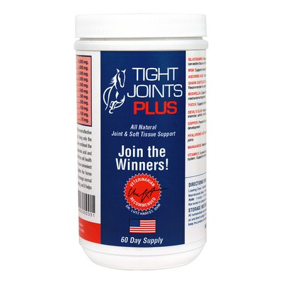 Tight Joints PLUS Nutritional Supplement for Horses. Contains Glucosamine, Hyaluronic Acid and Shark Cartilage to Support Structural Integrity and Mobility of Joints and Connective Tissue. 2 Lbs.