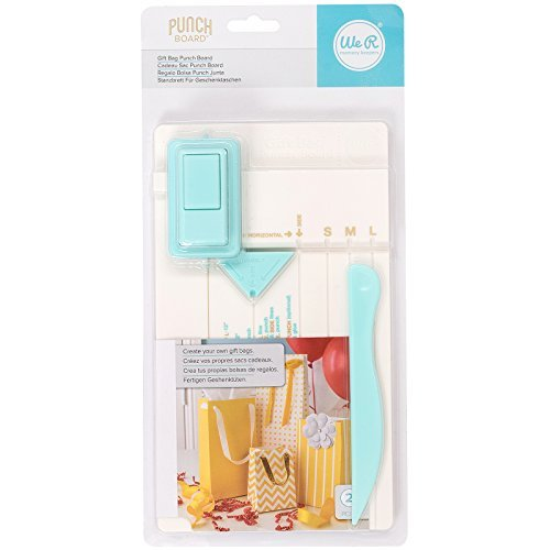 We R Memory Keepers Gift Bag Punch Board by Includes punch board and detachable scoring tool, Multi color by We R Memory Keepers