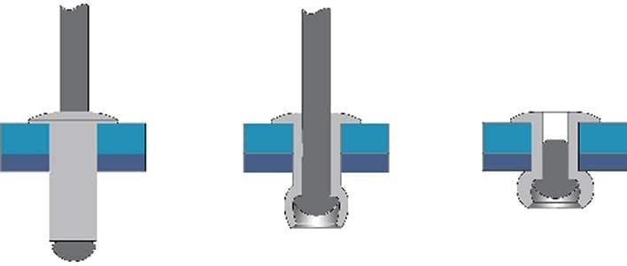 Remache aluminio minicaja 25pcs Bralo S1010004821 4,8X21