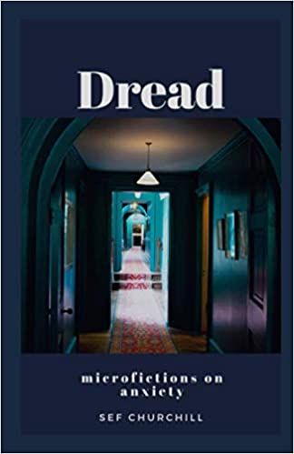 Book cover showing doorway with light at the end, cover is for Dread Microfictions
