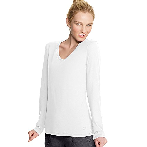 Champion Ladies Authentic Wojersey Long Sleeve Tee W8037 -White M W8037