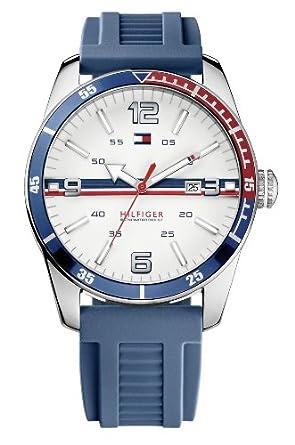 Tommy Hilfiger 1790918 - Reloj analógico de Cuarzo para Hombre con Correa de Silicona, Color Azul: Tommy Hilfiger: Amazon.es: Relojes