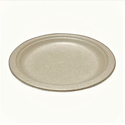 "Wheat Straw Disposable Plates 9"" - Biodegradable - Compostable - Eco-Friendly - Microwave Safe"