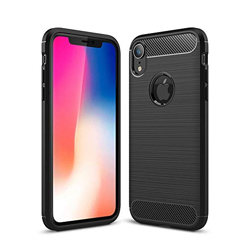 iPhone Xs/X Case, Reinforced Corner Soft TPU Anti-Scratch Shock Absorption Cover for Apple iPhone Xs/X-Rose Red Crystal Clear Case (Black, iPhone Xs/MAX)