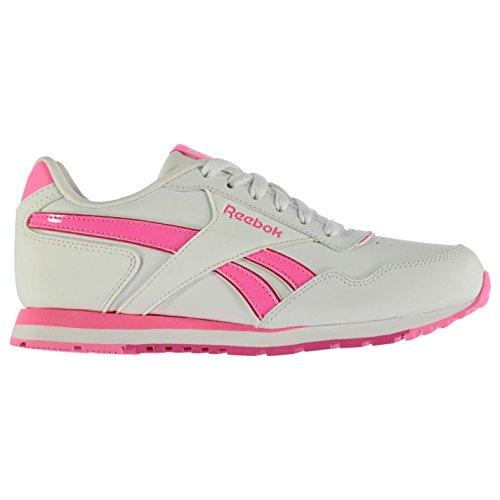 Reebok Kinder Maedchen Classic Glide Leder Turnschuhe Sneaker Freizeit Sportschuhe White/Pink
