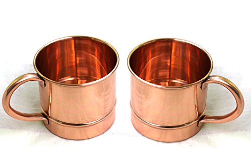 STREET CRAFT 100% Authentic Copper Moscow Mule Mug with Copper Moscow Mule Mugs Cups Capacity 12 Oz Pure Copper. Set of 2 Pcs]()