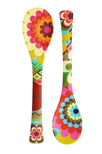 French Bull - Melamine Salad Servers - Salad Tongs - Serving Utensils - Mosaic (One Pair)